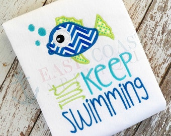 JUST KEEP SWIMMING machine embroidery design