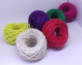 Jute String Coloured / 10m Lengths