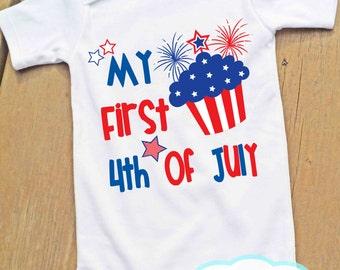 Premier quart de juillet Body ou T-Shirt - fête de l'indépendance - 4 juillet