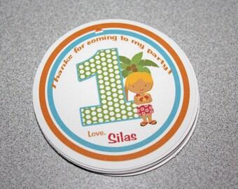 Luau Boy Birthday Favor Tags / Luau Boy Favor Tags / Luau Boy Gift Tags / Luau Favor Tags / Luau Birthday Party / Hula Boy Tag /  Set 12