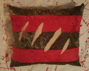 Horror Nightmare on Elm Street Movie Freddy Krueger Pillow