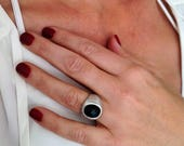 Black & Gold Ring, Solid ...