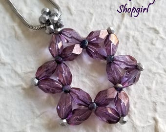 Purple Hexagram Pendant