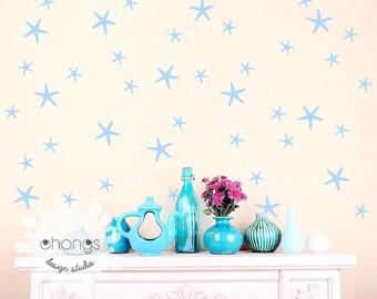 Starfish Wall Decal / 2 Size Starfish Decal / 90 Starfish Wall Sticker / Nursery Wall Decal / Home Decor