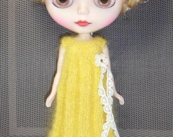 BLYTHE DOLL ..Mohair Silk Knitted Dress..Dress ONLY