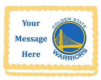 Golden State Warriors Edible  Cake Topper