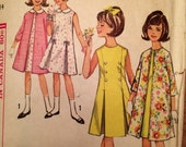 1960's Girl's Dress and Coat Pattern Vintage Simplicity 5858
