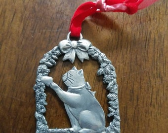 Seagull pewter ornament