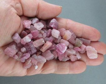 2 Pink Tourmaline Crystals - Stress Relief, October Birthstone, Rubellite Tourmaline,Healing Crystals & Stones, Heart Chakra T431