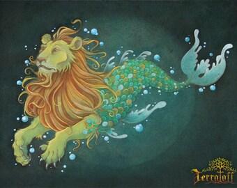 The Mighty Merlion - Terratoff Open Edition Art Print