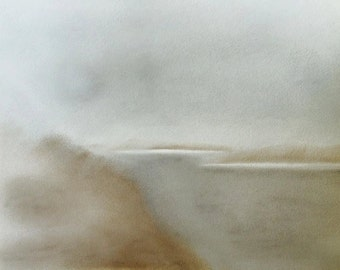 Misty Hebridean Landscape: Isay & Mingay from Lochbay, Isle of Skye using soft pastels (19 Aug)