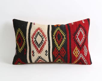 Kilim pillow, tribal handmade decorative kilim pillow cover
