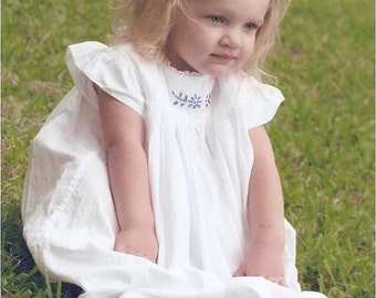 Girls' Hand Embroidered Summer Dress