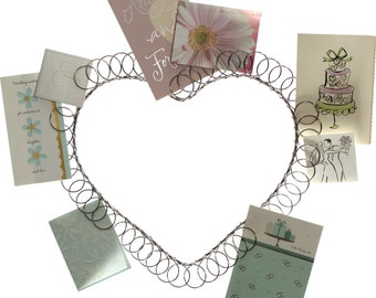 Wire Wreath Heart Shaped Card and Photo Holder