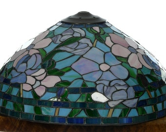 Vintage Stained Glass Lampshade