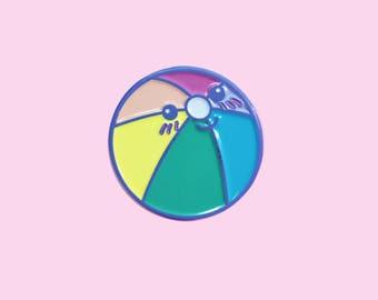 Rainbow Beach Ball Soft Enamel Pin