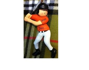 Personalized Baseball Player Gift - Baseball Birthday - Baseball Cake Stand/Decor/Baseball Magnet/Ornament - Customize Uniform & Skin Tone