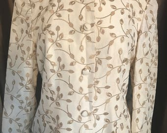 100% Silk Favourbrook Longline Jacket/Coat Dressy Formal