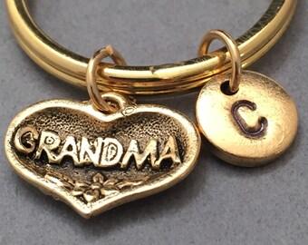 Grandma keychain, grandma charm, family keychain, personalized keychain, initial keychain, initial charm, customized, monogram