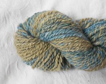 Blue/khaki Handspun Yarn