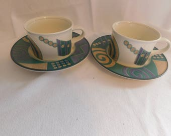 Mikasa-Intaglio-Life-Style-Oven-Table-Dishwasher-amp-Micro-Safe-Cups-Saucers-2
