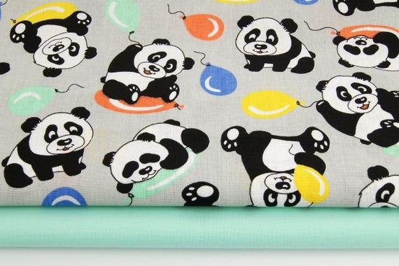 Baby-Panda-Stoff Baumwoll-Stoff von der Hof-Panda Druck Nähen