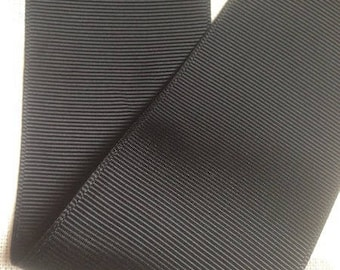 Wholesale lot 15 meter of Ribbon 50 mm double sided black