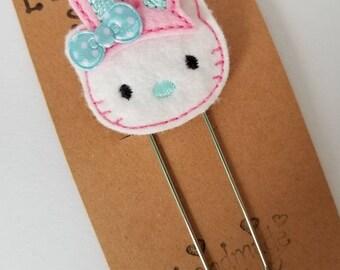 Kitty Bunny Feltie Jumbo Bookmark - XL - Planner Clip - Planner Accessory- Small Gift