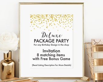 Birthday Party Package, Deluxe Package, Printable