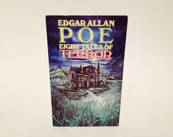 Vintage Children's Book Eight Tales of Terror by Edgar Allan Poe 1978 Paperback Anthology