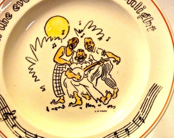 """Vintage Fondeville Songs Collectible Plate, """"In the Evening By the Moonlight!"""" Songs Fondeville"""