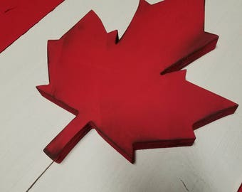 Custom Canadian wood flag, Canada wallart