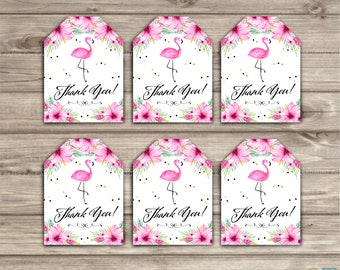 Flamingo Tags Favor Tags Thank you Gift Tags TT1327