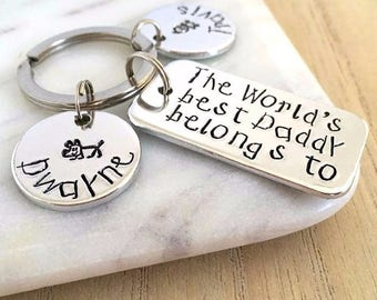 Gifts for Daddy, From Wife, Worlds Best Daddy, Personalised Keyring, Personalized Keyring, Gifts for Fathers Day, Daddy Gift, Dad Keyring
