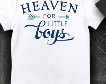 Thanks Heaven for Little Boys -  Iron on Transfer