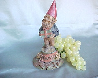1984 Tom Clark Gnome Figurine of Happy, Vintage Limited Edition Collectible Figure, Molded Resin Home Decor, Cairn Studio Artworks