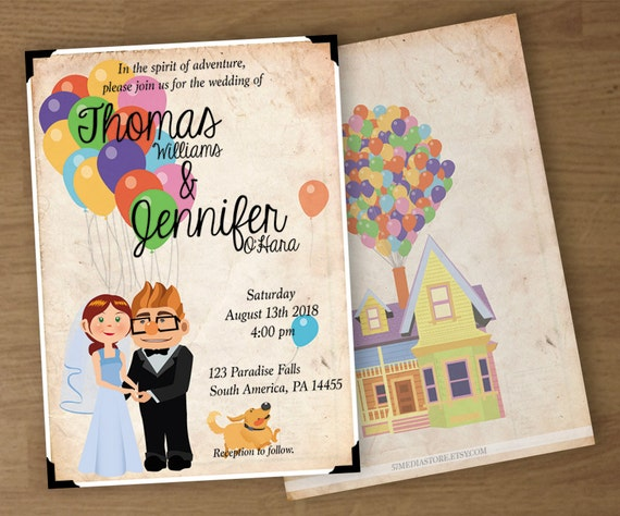Wedding Invitation UP Theme Digital Printable Custom
