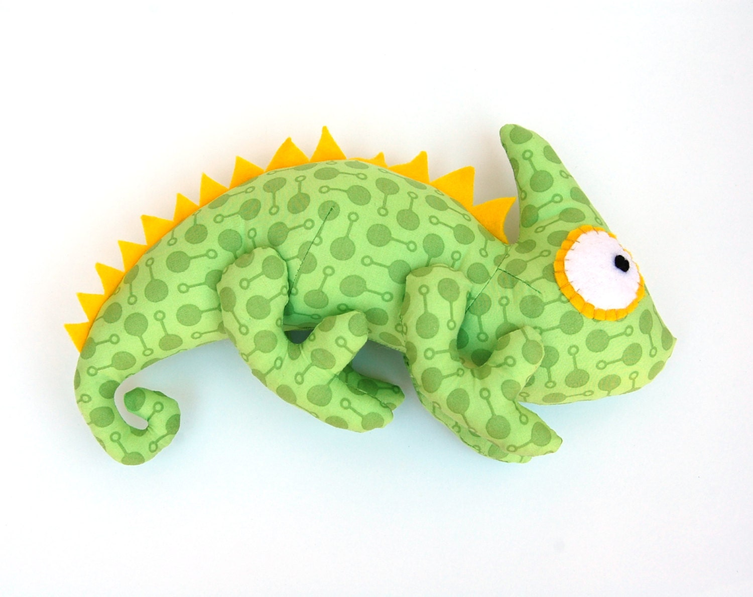 Sewing Pattern Toy, Iguana Toy, Chameleon toy, Diy Gift For Kid, Pdf ...
