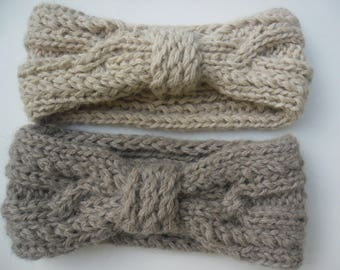 HEAD bands in Alpaca taupe and beige