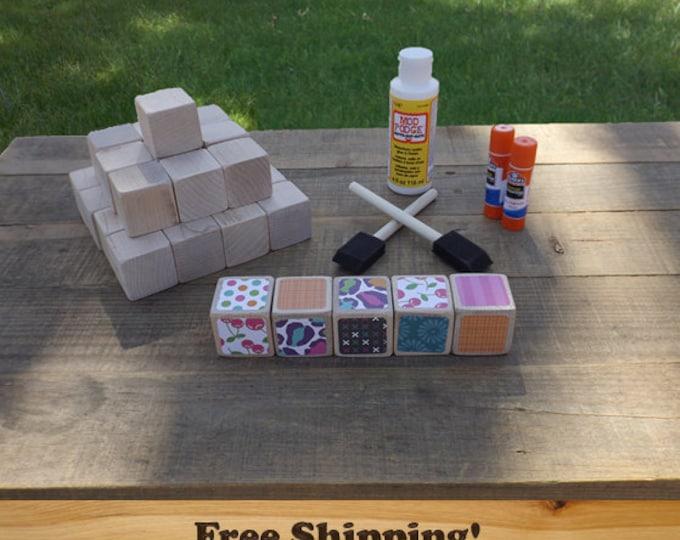 26 Baby DIY Wood Blocks Set, 1.5 inch (Maple) by Spud Woodworks