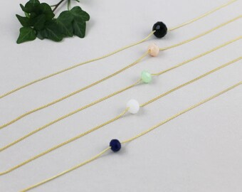 Necklace Choker glass faceted bead
