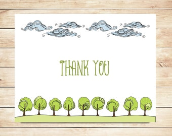 Nature Lover Thank You Cards - Outdoor Stationery, Stationary - Nature Stationery