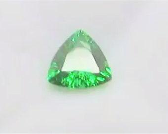 Stylish Trillion Shape Certified Tsavorite Gemstone .0.99ct