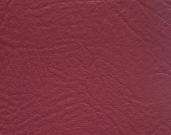 """Wine Vinyl Fabric Faux Leather Pleather Upholstery 54"""" Wide By the Yard"""