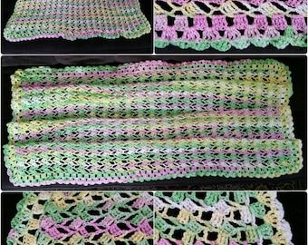 Crochet Lace Blanket/Afghan/Throw