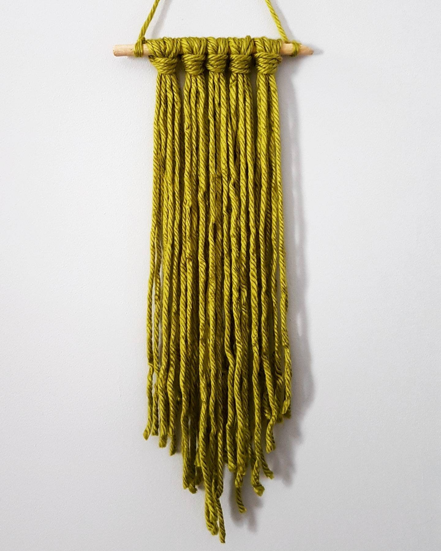 Gorgeous Green Macrame Wall Hanging on Hand Picked Driftwood
