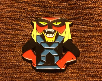 Space ghost Brak hat pin