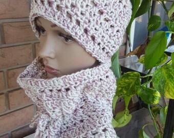 Crochet Hat And Neck Warmer Set, Woman Winter Hat And Neck Warmer Set ,