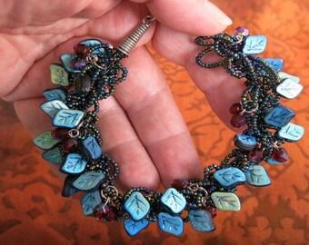 Leafy Beaded Bracelet