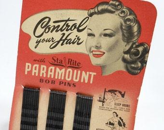 Vintage Bobby Pins | BOB PINS | Hair Accessories | Beauty Cosmetics | Sta Rite Paramount |